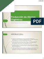 Producción de Abonos orgánicos (Compost)
