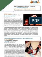 Programación Teatro Arbolé Diciembre 2010
