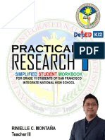 practical research 1 handbook BY RINIELLE C. MONTANA