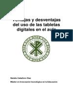 Ventajas y Desventajas Del Uso de Las Tabletas Digitales en El Aula
