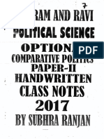 2017 POL SCIENCE OPTIONAL 7 VAJIRAM _ RAVI HANDWRITTEN