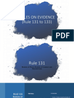 RULES ON EVIDENCE