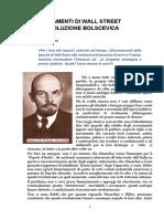 i Finanziamenti Di Wall Street Alla Rivoluzione Bolscevica Di Maurizio Barozzi