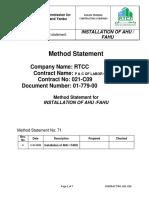 Method Statement for Installation of AHU-FAHU.pdf