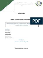 Intermédiation financier, marché financier, développement des I I