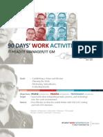 90 DAYS' WORK ACTIVITIES PLAN - HIZRIYANDA PUTRA