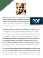 Biography of Mohandas Ghandi