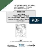 Seccion 3 Promocion y Apoyo a La Lactancia en Un Hospital Amigo Del Nino