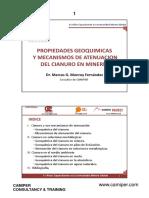 01 PROPIEDADES GEOQUIMICAS Y MECANISMOS DE ATENUACION DEL CIANURO EN MINERIA