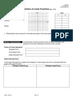 CharacteristicsLinearFunctions