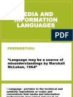 MEDIA AND INFORMATION LANGUAGES