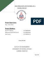 HMI and PLC controlled generator motor set