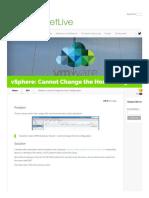vSphere_ Cannot Change the Host Configuration _ PeteNetLive