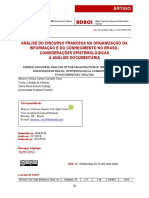 ANÁLISE DO DISCURSO FRANCESA NA ORGANIZAÇÃO DA INFORMAÇÃO E DO CONHECIMENTO NO BRASIL