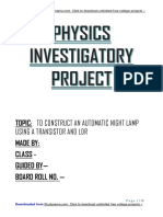 Automatic Lamp Using Transistor & LDR - Class 12 Physics Investigatory Project Free PDF Downl...docx