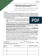 Formato de de seguimiento discplinario para Matricula De Estudiantes Con Historial -2010