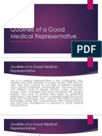 qualities of a good Med Rep