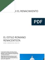 CLASE 3. EL ESTILO ROMANO RENCENTISTA
