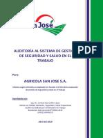 Informe de Auditoría del SGSST-AGRÍCOLA SAN JOSÉ.docx