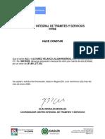 certificado casur