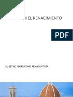 CLASE 2 EL ESTILO FLORENTINO RENACENTISTA.pptx