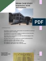 AUDITORIUM CASE STUDY Prof