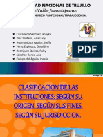 clasificacion de las instituciones