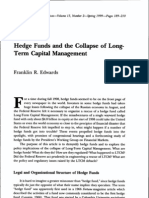 Hedge Funds and the Collapse of Long- Term Capital Management
