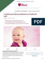 7 señales que indican problemas en el habla del bebé - Eres Mamá