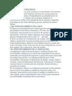 uso y explotación de los recursos naturales por los indegenas Venezolanos