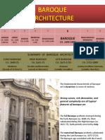 HISTORY BAROQUE ARCHITECTURE