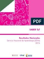 Resultados nacionales prueba saber t y t - sena-2016.pdf