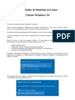 1 Samba como DC - Cliente Windows