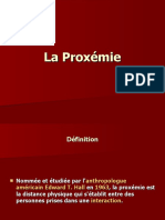 La Proxémie 1