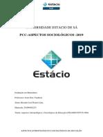 ASPECTOS ANTROPOLOGICOS E SOCIOLOGICOS DA EDUCAÇÃO-UNIVERSIDADE ESTACIO DE SÁ
