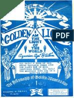 Golden Light vol 10, no 2, May 1962