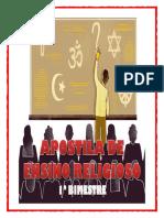 APOSTILA DE ENSINO RELIGIOSO - 1º BIMESTRE 2018 - atualizada