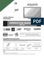 Sharp Aquos 40-Inch HDTV LCD User Manual