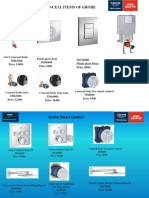 GROHE PRODUCTS MANUAL WITH PRICES