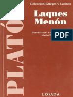 Platón - Laques - Menón (ed. Marisa Divenosa).pdf