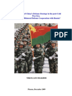 An Assessment of China's Defense Strategy in the Post-Cold War Era. What Role for Bilateral Defense Cooperation with Russia?