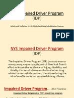 Impaired Driver Program-2018