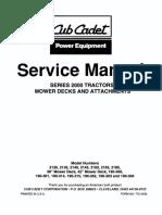 Cub Cadet 2000 Series Service Repair Manual
