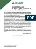 NOTA DE PRENSA 028 - MUNICIPALIDAD DE HUÁNUCO AGILIZA CONTRUCCIÓN DE RELLENO SANITARIO
