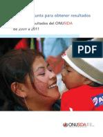 Acción conjunta para obtener resultados - Marco de resultados del ONUSIDA 2009-2011