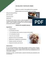 2 RECETAS DE CHOCOLATE, PASTEL, PIE