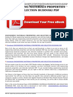 engineering materials properties and selection budinski