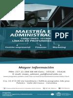 Maestría en Administración de empresas Universidad Nacional de Colombia - Sede Palmira