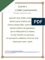 Oración a San Juan Diego