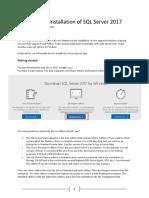 SQL SERVER 2017 Developer Edition - Installation Guide